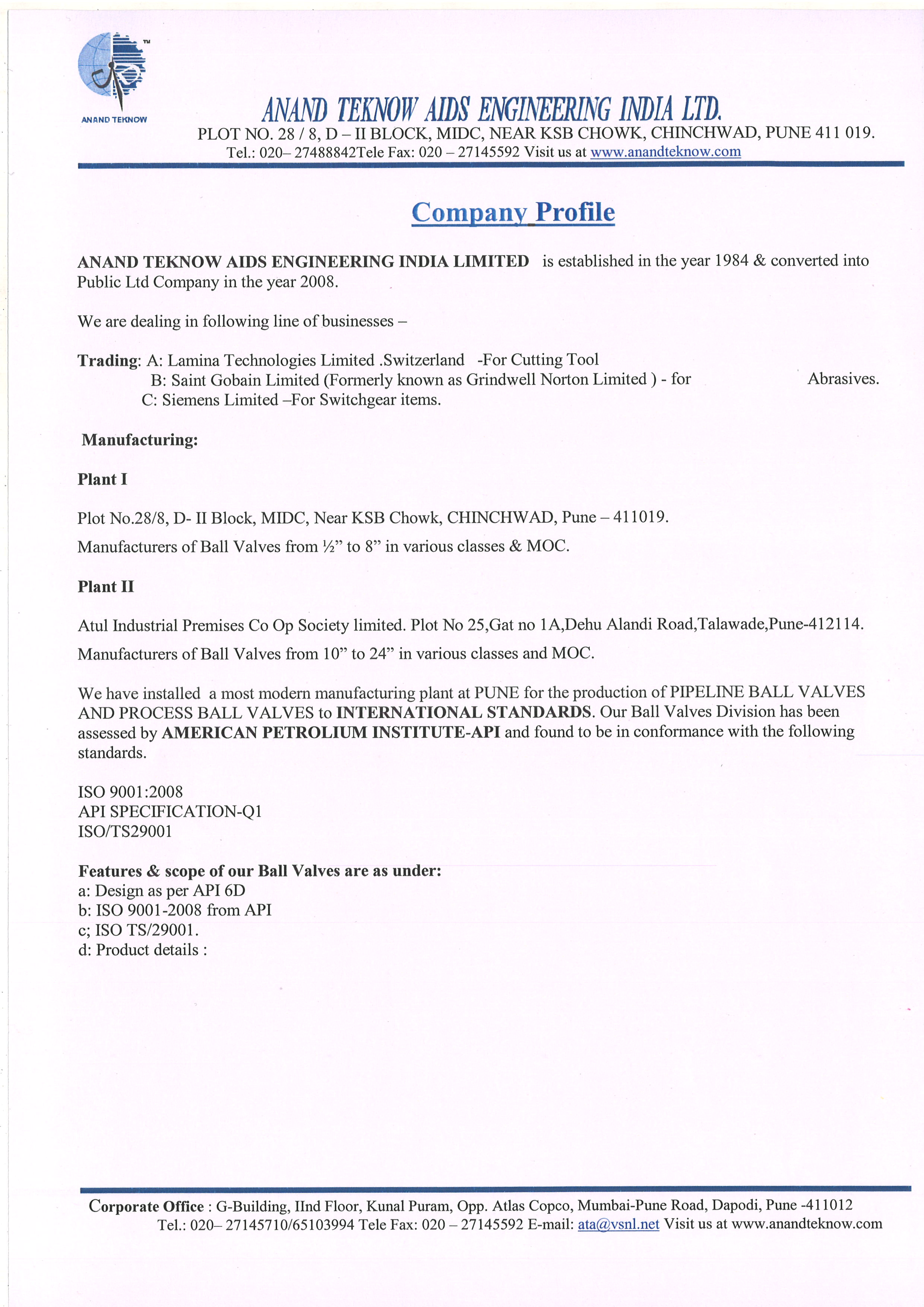 ANAND TEKNOW AIDS ENGINEERING INDIA LTD