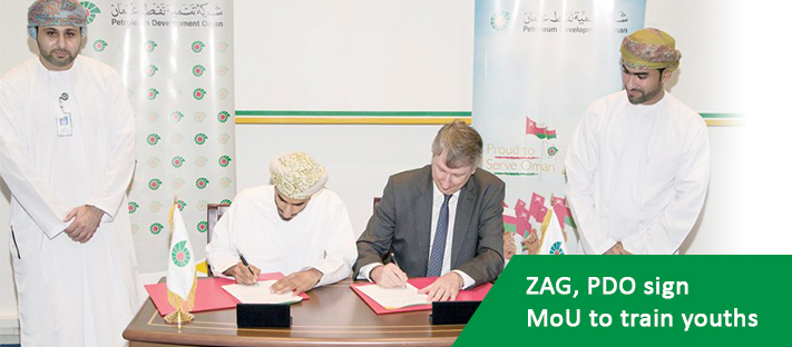 ZAG, PDO sign MoU to train youths