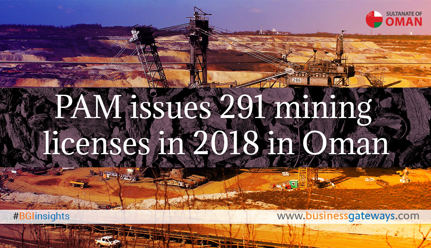 PAM issues 291 mining licenses in 2018 in Oman