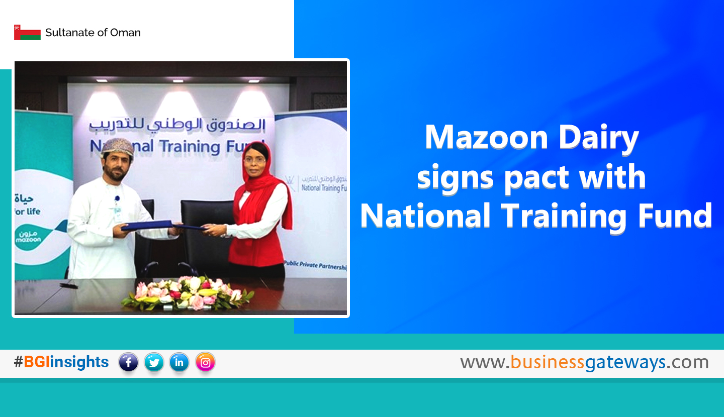 Mazoon Dairy signs pact with National Training Fund