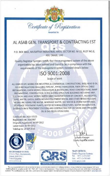 AL ASAB GENERAL TRANSPORT AND CONTRACTING ESTABLISHMENT
